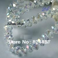 Manik Kristal Ceko Labu Putih Bening - Clear White