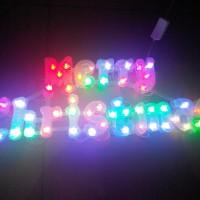 Lampu Kedap Kedip tulisan Merry Christmas Warna warni Cerah Cantik