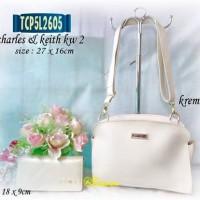 Tas + Dompet Zara / Charles & Keith kw 2 / krem