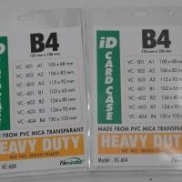 PLASTIK NAME TAG TRANSPARENT UKURAN B4 ( 150 X 105 mm )