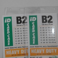 PLASTIK NAME TAG TRANSPARENT UKURAN B2( 124X 80 mm )
