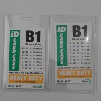 PLASTIK NAME TAG TRANSPARENT UKURAN B1 ( 102 X 65 mm)