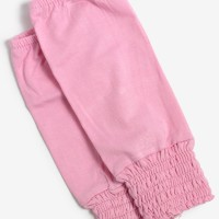 Manset Tangan Pendek Kerut -Pink Baby1