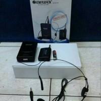 mic wireles aiwa 801 single headset original