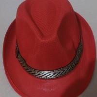 topi cowboy anak/kids merah