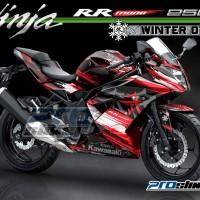 harga Decal Kawasaki Ninja Rr Mono 250cc Motif Winter Wsbk Team - Merah Tokopedia.com