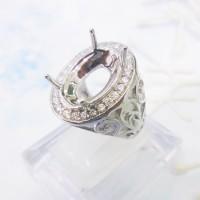 Ikatan Batu Cincin Silver 925