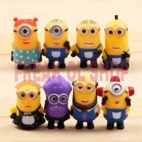 8pcs/Lot Despicable Me 2 Minions Figure 5cm PVC Action Figures Toy