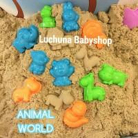 mould /cetakan animal world bermain pasir /motion sand /pasir ajaib