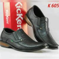 Sepatu Casual Pantofel kerja Kickers Pria kulit Asli