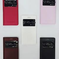 Flipcover View Samsung Grand 2 Autolock Kulit + Standing / Sarung Hp