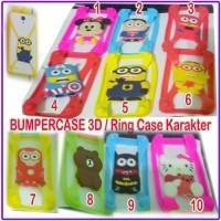 BUMPER RING CASE HP 3D Karakter Hello Kitty Minion Rilakkuma dll