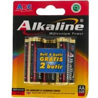 ABC ALKALINE BATTERY AA 4+2