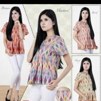 INDRITHA Batik Rang Rang Short Sleeve Blouse natal ethnic