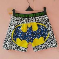 Jual celana pendek boxer pria dan wanita dewasa superhero batman Murah