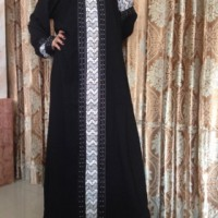 Abaya Saudi Gamis Jalabiyah Dubai Middle Strip