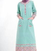 Baju Muslim Gamis Nibras Murah Polkadot Tosca Nb84