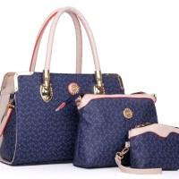 TAS TANGAN BIRU FORMAL SHOULDER BLUE HAND BAG KERJA WANITA CANTIK 3IN1