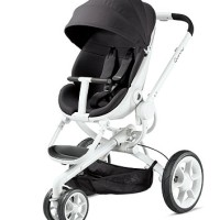 Stroller Quinny Moodd Pushchair - Black Irony with White Frame