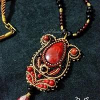 kalung dan bros batu coral Hayda 3