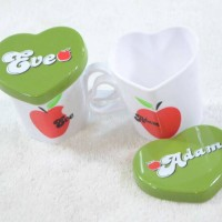 mug set adam eve couple