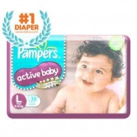 Pampers Active Baby Diapers L 36
