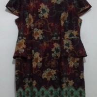 dress batik coklat Semata Wayang by Hassenda De Co