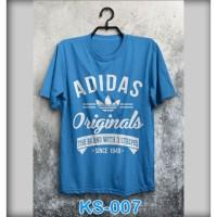 Kaos adidas biru KS-007