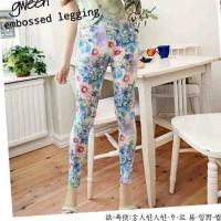 GWEEN EMBOSSED LEGGING (celana legging)