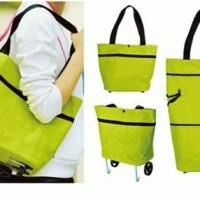 Trolley Foldable Shopping Bag tas belanja troli yang bisa dilipat