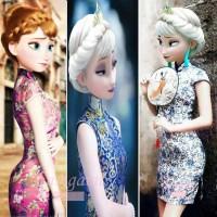 baju anak perempuan dress CNY cina anak cheongsam