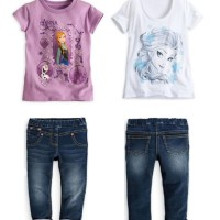 Baju setelan anak B2W2 3in1 girl set frozen elsa k