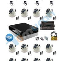 PAKET IP CAMERA /CCTV : NVR 16 CHANNEL + 4 OUTDOOR + 12 DOME