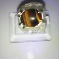 Cincin natural batu biduri sepah / tiger eye