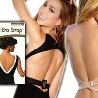 Low Back Bra Strap Tali Bra Backless pada baju gaun pesta dress