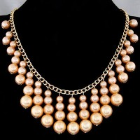 Kalung Necklace Fashion Pearl Gold (FT6CA8E)
