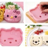 Hello Kitty Sandwich Bread Toast STAMP Cutter Mold Cetakan Roti Tawar