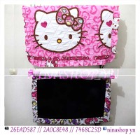 Jual sarung TV / Cover TV LED/LCD motif Hello Kitty leopard