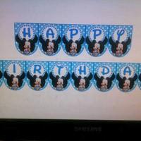 BANNER FLAG Desain KHUSUS bisa nama foto perlengkapan ulang tahun anak