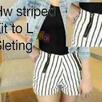 Hot Pants Zipper Stripe Black White / Hotpants Zipper Stripes