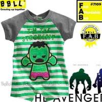 Baju bayi romper babalula 7109 Hulk