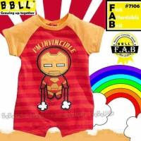 Baju bayi romper babalula ironman