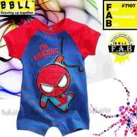 Baju bayi romper babalula 7107 spiderman
