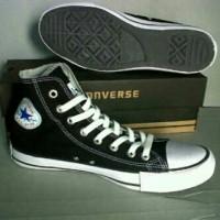 sepatu converse tinggi /high hitam putih ecer+box