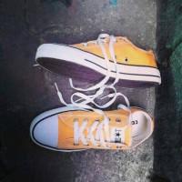 sepatu converse yellow / kuning ,ecer +box