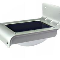 supplier Lampu dinding tenaga surya stainless 16 LED sensor suara