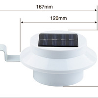 Lampu LED pagar/ talang air multi guna 3 led super terang tenaga surya
