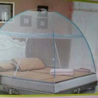 kelambu nyamuk rangka baja ukuran 150cm x 200cm