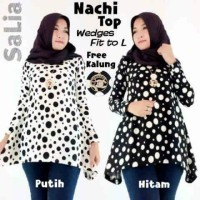 SUPPLIER BAJU HIJAB : NACHI TOP HQ FREE KALUNG