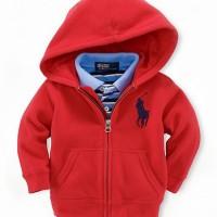 Baju Anak - Hoodie Jacket Red (T-070)